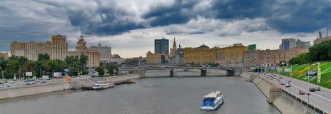 Fiume di Moskva Fotografia Stock