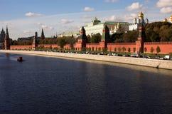 Fiume di Moskva, Kremlin, Russia, Mosca Fotografie Stock