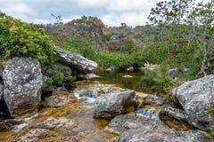 Fiume di Mucugezinho Chapada Diamantina - in Bahia, Brasile Immagine Stock
