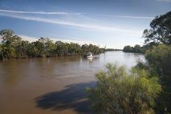 Fiume di Murray in inondazione Fotografia Stock Libera da Diritti
