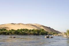 Fiume di Nilo, Aswan Immagini Stock Libere da Diritti