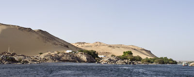 Fiume di Nilo, Aswan Fotografie Stock