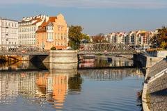 Fiume di Odra a Wroclaw, Polonia Wroclaw è una città in Polonia occidentale e più grande città in Slesia fotografia stock libera da diritti