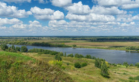 Fiume di Oka La Russia centrale Immagini Stock