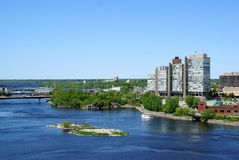 Fiume di Ottawa Ontario Immagine Stock