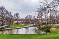 Fiume di Pader a Paderborn, Germania immagini stock libere da diritti