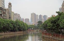 Fiume di Panlong nel centro della città di Kunming fotografia stock libera da diritti