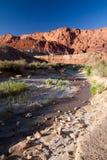 Fiume di Paria nella striscia dell'Arizona fotografia stock