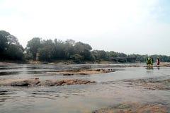 Fiume di Periyar, Kerala Immagini Stock