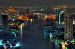 Fiume di phraya di Chao a Bangkok Immagine Stock Libera da Diritti