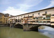 Fiume di Ponte Vecchio e di Arno Immagini Stock