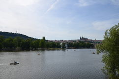 Fiume di Praga Fotografia Stock Libera da Diritti
