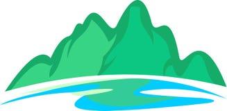 Fiume di riserva della montagna di logo Immagine Stock Libera da Diritti