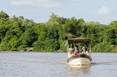 Fiume di Rufiji della barca turistica Fotografia Stock