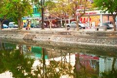 Fiume di rumore metallico, Chiang Mai Fotografia Stock Libera da Diritti