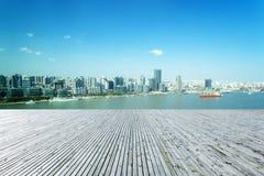 Fiume di Schang-Hai Huangpu fotografia stock libera da diritti