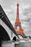 Fiume di Seine e della Torre Eiffel Immagine Stock