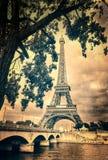 Fiume di Seine e della Torre Eiffel Fotografia Stock Libera da Diritti