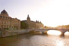 Fiume di Seine a Parigi Immagini Stock Libere da Diritti