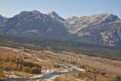 Fiume di serpente dall'aria nel Wyoming Immagine Stock