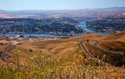 Fiume di serpente della collina di Lewiston Idaho Immagini Stock Libere da Diritti