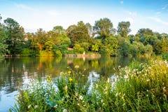 Fiume di Tamigi Oxford, Inghilterra Fotografia Stock