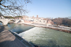 Fiume di Tiber. Immagini Stock