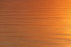 Fiume di tramonto dell'acqua di struttura Fotografie Stock