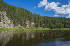 Fiume di Ural Fotografia Stock