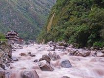 Fiume di Urubamba, Machu Picchu Perù Immagini Stock Libere da Diritti
