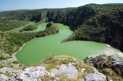 Fiume di Uvac del canyon, Serbia immagine stock