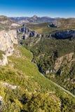 Fiume di Verdon, scogliere e natura Intorno-Francia Fotografie Stock