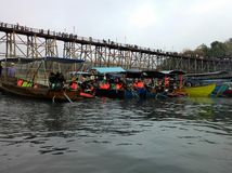 fiume di viaggio della barca fotografia stock