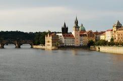 Fiume di Vltava, Praga Fotografia Stock Libera da Diritti