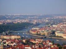 Fiume di Vltava a Praga Fotografia Stock Libera da Diritti