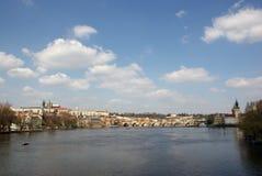 Fiume di Vltava a Praga Immagine Stock Libera da Diritti