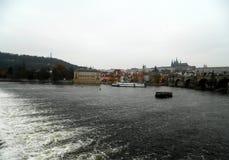 Fiume di Vltava, Praga, Repubblica ceca Fotografia Stock Libera da Diritti
