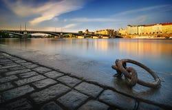 Fiume di Vltava, Praga, Repubblica ceca Fotografie Stock
