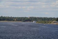Fiume di Volga Immagini Stock