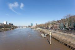 Fiume di Weser a Brema Immagini Stock Libere da Diritti