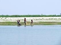 Fiume di Yamuna, il Brahmaputra, Bogra, Bangladesh fotografia stock libera da diritti