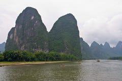 Fiume di Yangshuo Li, Guilin fotografie stock libere da diritti