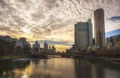Fiume di Yarra a Melbourne Australia Immagine Stock Libera da Diritti