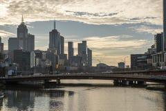 Fiume di Yarra a Melbourne Australia Fotografie Stock Libere da Diritti
