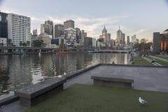 Fiume di Yarra a Melbourne Australia Immagini Stock Libere da Diritti