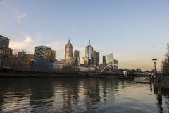 Fiume di Yarra a Melbourne Australia Fotografia Stock Libera da Diritti