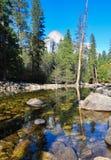 Fiume di Yosemite nell'inverno Immagini Stock