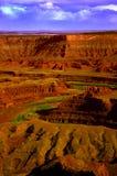 Fiume e canyon Fotografia Stock Libera da Diritti
