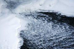 Fiume e ghiaccio Fotografie Stock Libere da Diritti