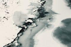 Fiume e ghiaccio congelati Immagine Stock Libera da Diritti